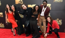 BURBANK, CALIFORNIA - APRIL 09:  (L-R) TV personalities Sabrina Kennedy, Kailah Casillas, Chris Hall, CeeJai' Jenkins, Dean Bart-Plange and Dione Mariani attend the 2016 MTV Movie Awards at Warner Bros. Studios on April 9, 2016 in Burbank, California.  MTV Movie Awards airs April 10, 2016 at 8pm ET/PT.  (Photo by Larry Busacca/Getty Images for MTV)