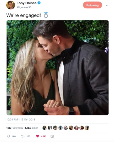 Tony Raines engaged