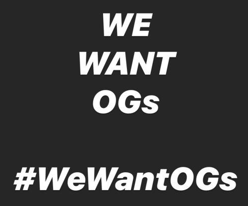 #wewantogs