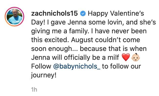 Zach IG Announcement