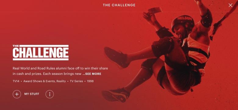 Challenge on Hulu