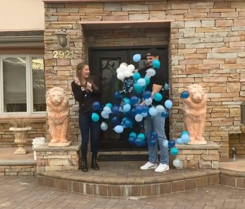 Zach Jenna having a boy